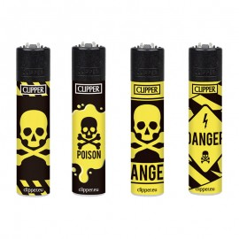 Accendino Clipper mini Danger Toxic ricaricabile a gas