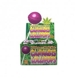 Lecca Lecca alla Cannabis Bubblegum x Purple Haze