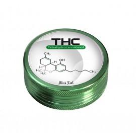 Grinder THC Black Leaf Verde 2 parti