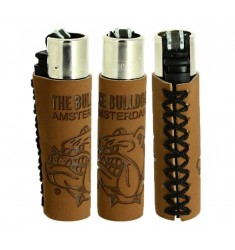 Accendino Clipper in pelle The Bulldog Amsterdam