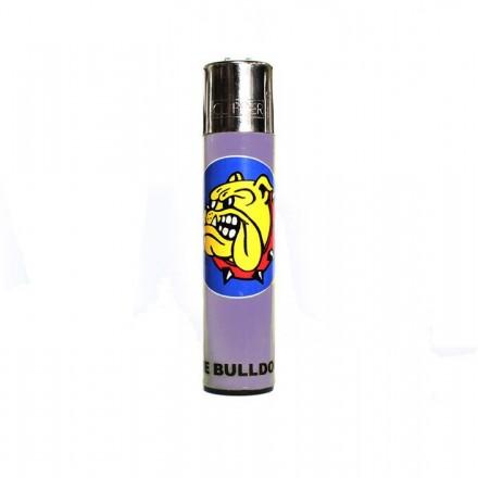 Accendino Clipper The Bulldog Amsterdam Logo Fluo ricaricabile a gas