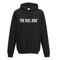 Felpa nera con cappuccio scritta The Bulldog Amsterdam Originale