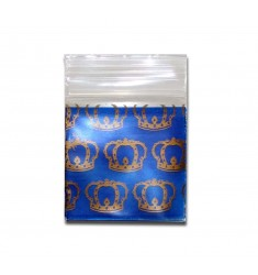 100 Bustine di plastica disegno Corona 24x24 mm