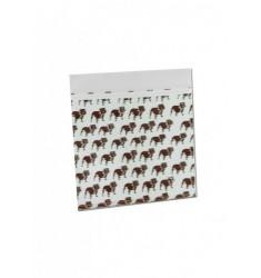 100 Bustine di plastica marrone disegno Teschio 50x50 mm