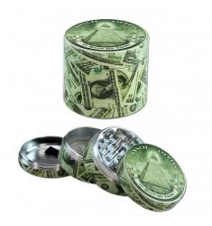 Grinder alluminio Dollaro 54 mm 4 parti
