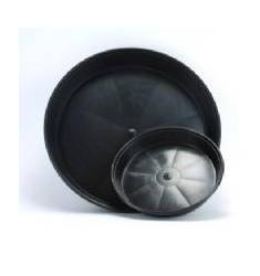 Sottovaso Tondo nero per vasi da 15L