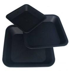 Sottovaso Quadrato nero per vasi da 18L